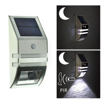 STYLEDOME Super bright LED stainless steel household solar garden lights outdoor solar wall lamp body induction lamp