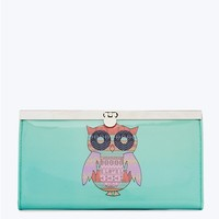 Turquoise Boho Owl Accordion Wallet