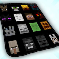 All Character Minecraft Blenket desidn for kids