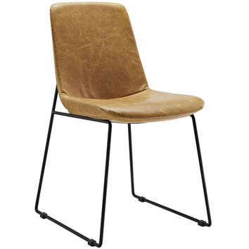Invite Dining Vinyl Side Chair Tan