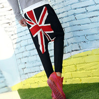 Union Jack UK Men Street Style Harem Pants