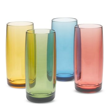 Duraclear High Ball Glasses, Set of 4, Multicolor
