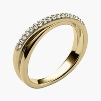 Women's Michael Kors Pave Crossover Ring