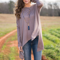 Swing And Sway Top, Mocha