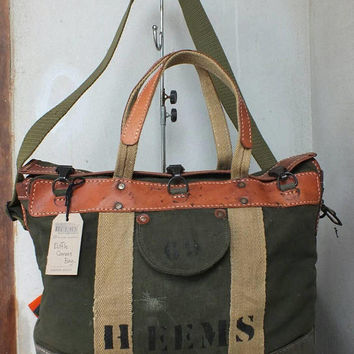 Canvas Duffle Bag ( Recycling Material )