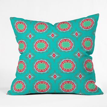 Elisabeth Fredriksson Strawberry Field Flowers Throw Pillow