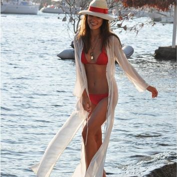 Swimsuit Cover Up ~ Kaftan, Maxi Dress, Long Sheer Cardigan Dress