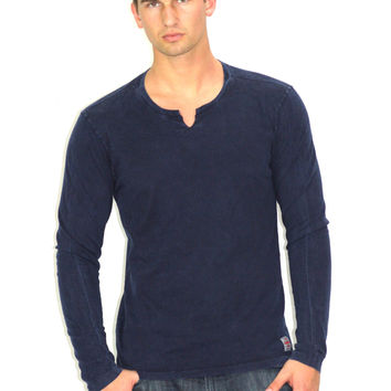 Navy COACHELLA Long Sleeve Shirt