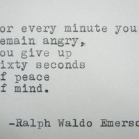RALPH WALDO EMERSON Quote Hand Typed Typewriter Quote Typed with Vintage Typewriter Art Paper Goods Cards Inspirational Quote