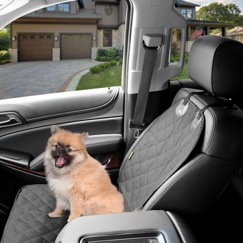 Dog Cover Car Front Seat For Pet Waterproof  - Black by Kopeks