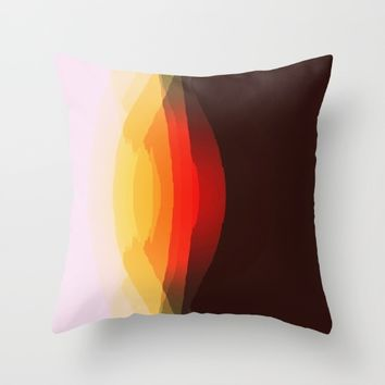 Warm Abstract Throw Pillow by SimplyChic