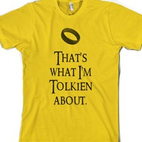 Gold T-Shirt | Funny Tolkien Lord Of The Rings Shirts