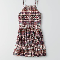AEO HI-NECK FIT & FLARE DRESS