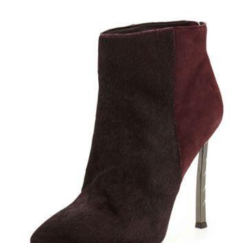 Sam Edelman Sandy Calf Hair Combo Bootie, Burgundy