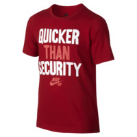 "Nike SB ""Quicker Than Security"" Boys' T-Shirt"