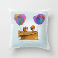 UP Pixar — Love is the greatest adventure  Throw Pillow by Ciara Panacchia