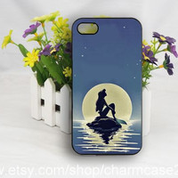 Little mermaid iPhone 4s case,Disney phone case,samsung galaxy s3/s4/s5 case,iphone 4/4s case,iphone 5/5s/5c case,Personalized