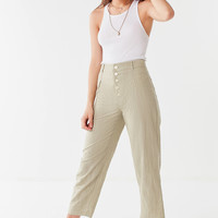 UO Maria Button-Fly Tapered Trouser | Urban Outfitters