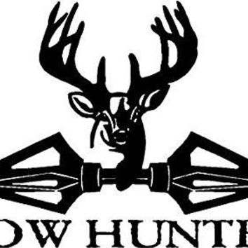 Bow Hunter Rack Vinyl Car/Laptop/Window/Wall Decal