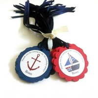 Thank You for Coming to My Birthday Nautical Party Favor Tags