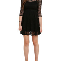 Royal Bones By Tripp Black Lace Skull Dress