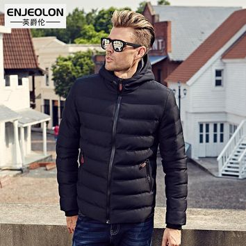 Winter Cotton Padded Hooded coat Men Windproof Parka Clothing Thick Quilted Hoodies