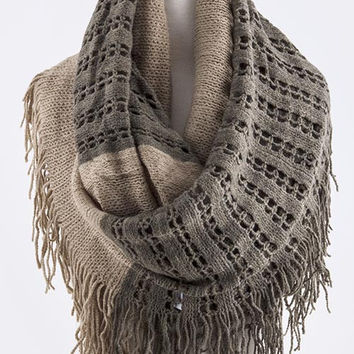 Mocha Two Toned Infinity Scarf