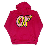 odd future logo red hoodie for unisex adult by mimpides