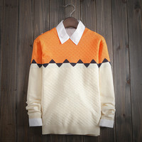 Men's Comfortable Ethnic Pullover Sweater