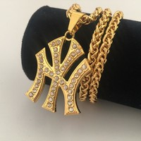 New Arrival Shiny Gift Jewelry Stylish Hip-hop Club Necklace [8439458627]