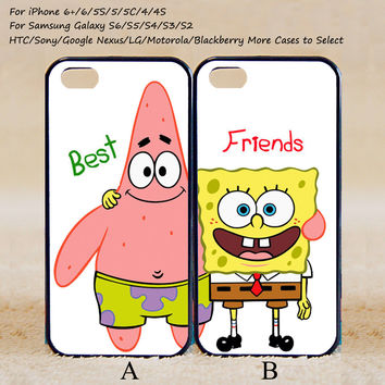 Spongebob and Patrick  Best Friend,Couple Case,Custom Case,iPhone 6+/6/5/5S/5C/4S/4