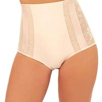 Women's High Waist Shaping Brief with Mesh Detail