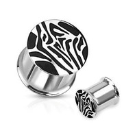 Ear Plug Gauges Tiger Striped Saddle