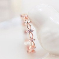 Shiny Jewelry Stylish New Arrival Gift Korean Lace Gold Ring [6586149575]