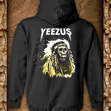 yeezus Hoodie color black and white by pahpohhoodie