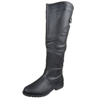 Womens Knee High Boots Over The Knee Button Accent Comfort Shoes Black SZ