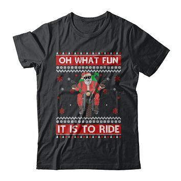 Oh What Fun It Is To Ride Motorcycle Christmas Sweater