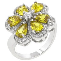 Yellow Floral Ring