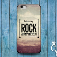 iPhone 4 4s 5 5s 5c 6 6s plus + iPod Touch 4th 5th 6th Gen Cover The Lord is My Rock & Fortress White Cool Cute Quote Mist Cloud Phone Case