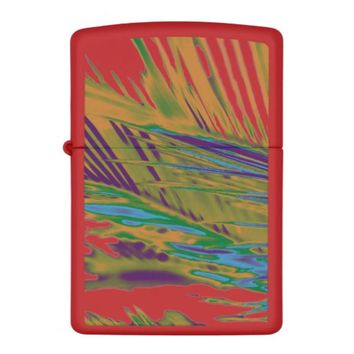 Palm Leaves Gold, Purple and Green Zippo Lighter