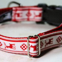 Ugly Holiday Sweater Dog Collar, Style 1: Perfect holiday dog collar for dogs - Buckle dog collars or Martingale Dog Collars