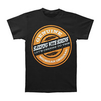Sleeping With Sirens Men's  Genuine T-shirt Black Rockabilia