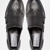 Bertie Livia Flat Buckle Monk Shoes