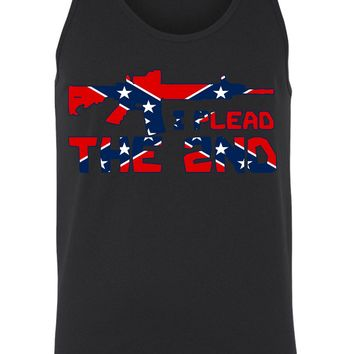 Men's Confederate Rebel Flag Tank Top I plead The 2nd