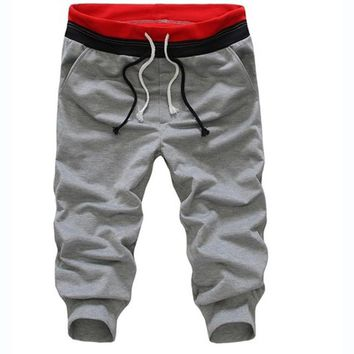 Summer Style Men Short Joggers Pants Jogger Youth Sweat Pants Male Casual Sportswear White Sweatpants