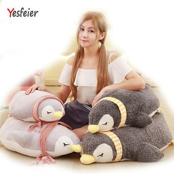 New Style Stuffed Down Cotton soft animals pillow Soft Cushion Penguin doll birthday gift 55-90cm plush Penguin Plush Toys