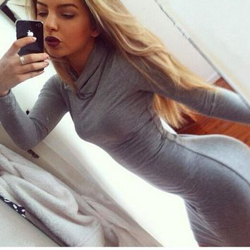 HOT GREY WARM DRESS