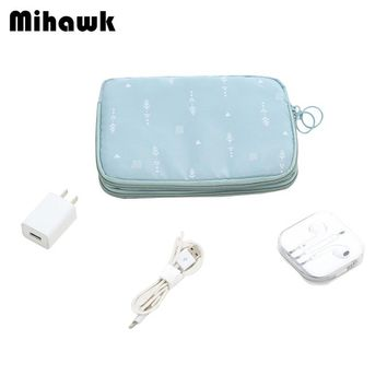 Double Layer Passport Wallets Data Lines Power Bank Package Multi-function Case Travel Portable Bag Money Pouch Accessories