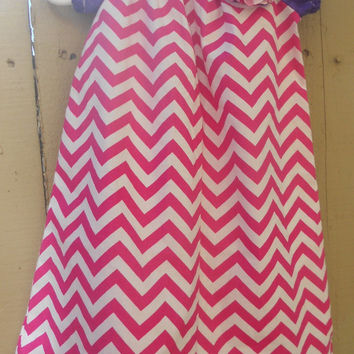Chevron infant/toddler peasant dress