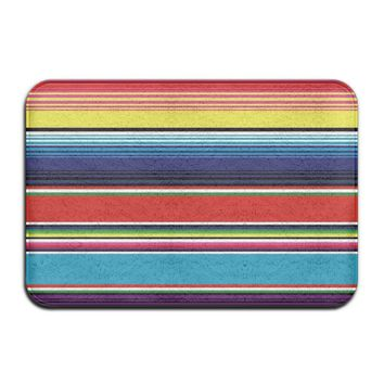 Autumn Fall welcome door mat doormat Colorful Mexican Blanket Stripes s Anti-slip House Garden Gate Carpet  Floor Pads AT_76_7